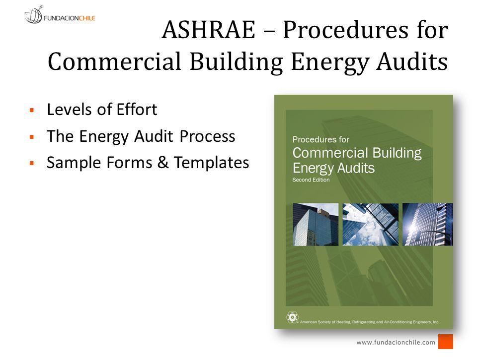 Levels of Effort ASHRAE – Procedures for Commercial Building Energy Audits