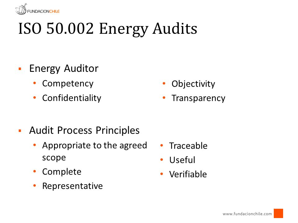 Define types of energy audits to be offered Adopt a standard report More commercial and less technical Measure more (depending on the audit type) Include Financial analysis & implementation Collaboration among consultants and installers