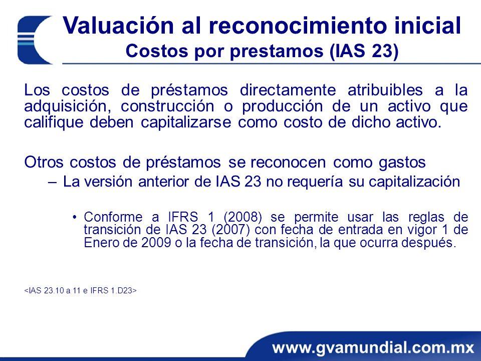 Los costos de préstamos directamente atribuibles a la adquisición, construcción o producción de un activo que califique deben capitalizarse como costo