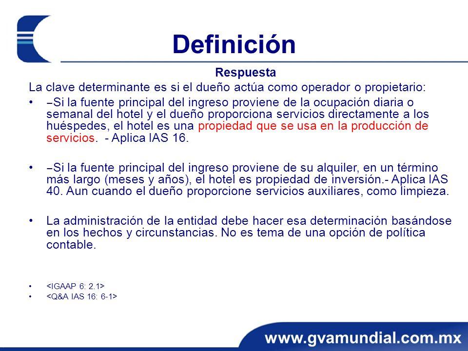 Definición Respuesta La clave determinante es si el dueño actúa como operador o propietario: Si la fuente principal del ingreso proviene de la ocupaci
