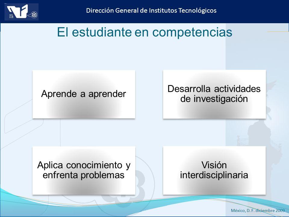 Instituto Tecnológico de Culiacán. Julio 2013 Dirección General de Institutos Tecnológicos Aprende a aprender Desarrolla actividades de investigación
