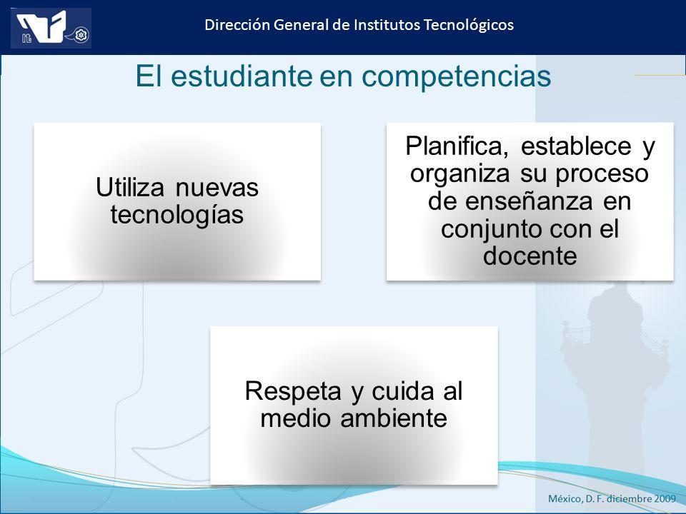 Instituto Tecnológico de Culiacán. Julio 2013 Dirección General de Institutos Tecnológicos Utiliza nuevas tecnologías Planifica, establece y organiza