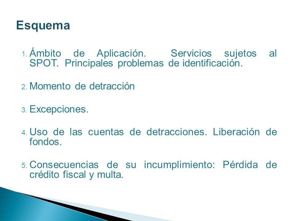 1.Ámbito de Aplicación. Servicios sujetos al SPOT.
