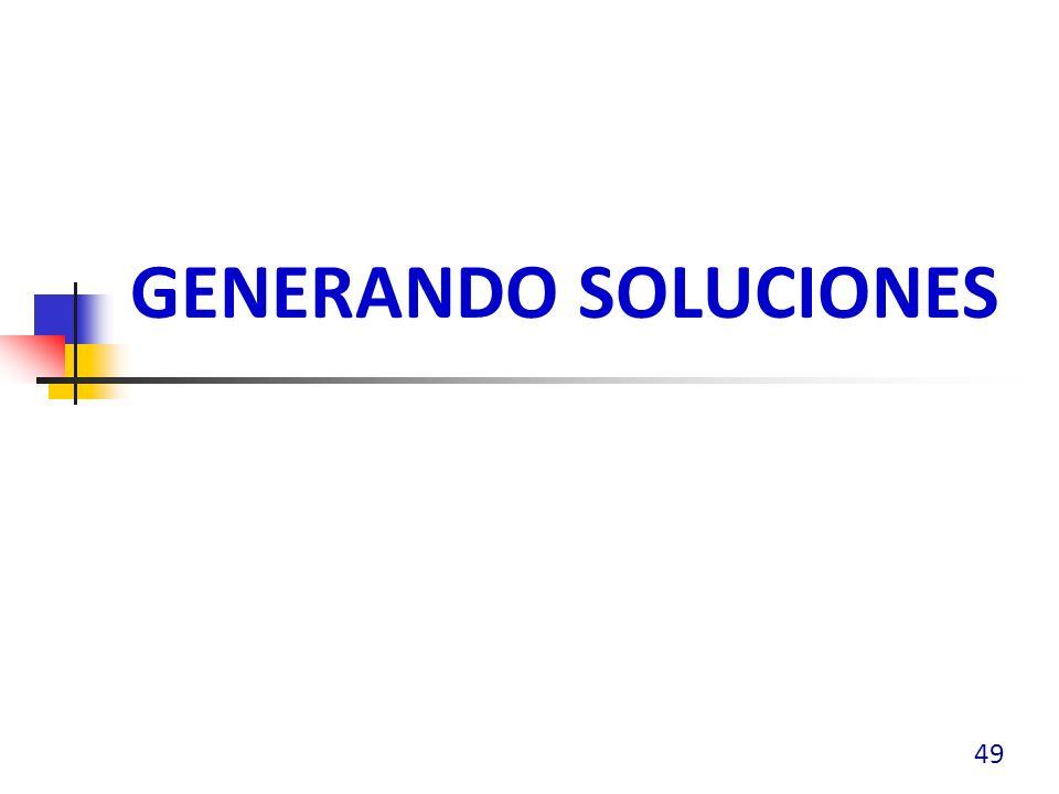 GENERANDO SOLUCIONES 49