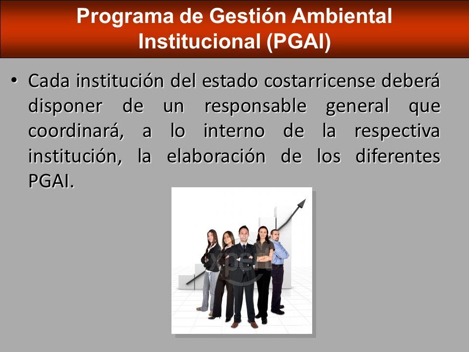 El PGAI institucional corresponderá a la suma de los diferentes PGAI que se han definido para las diferentes organizaciones de la institución.