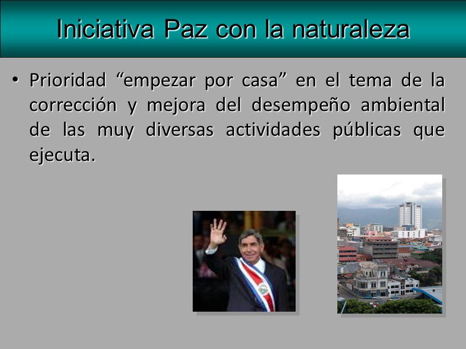Esta acción, que se ha denominado la ambientalización de la institucionalidad pública del país.