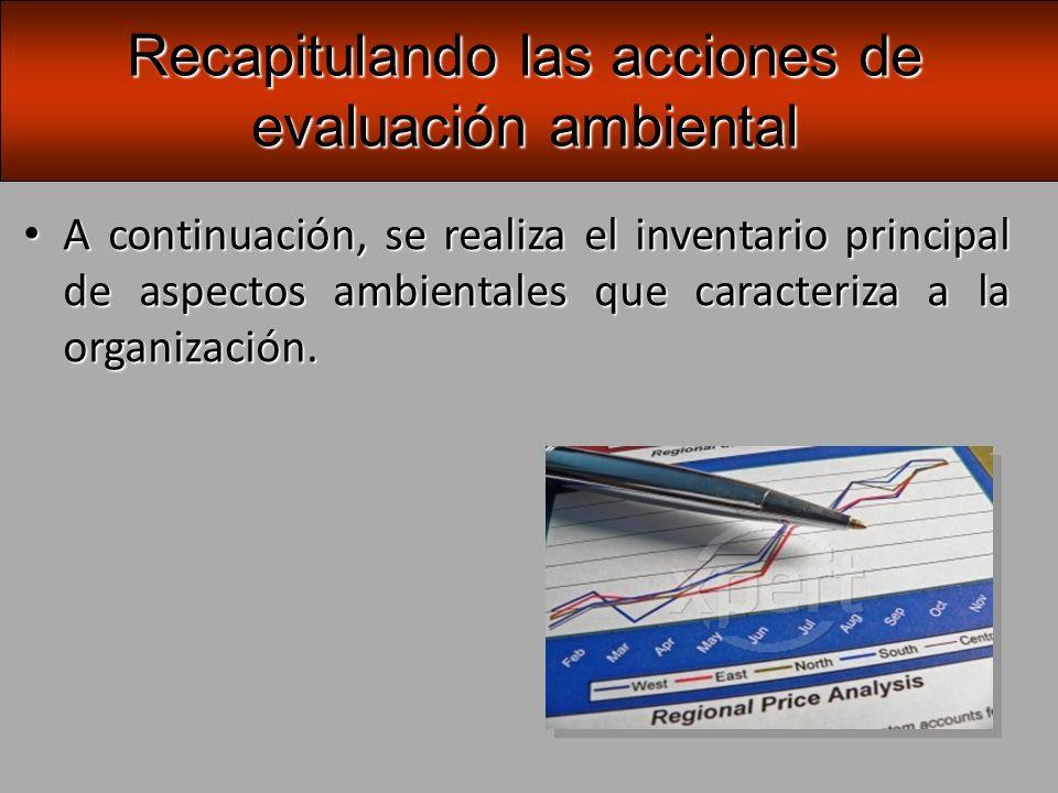 Luego, se seleccionan y ajustan los protocolos de evaluación, según los aspectos ambientales y se aplican en la organización.