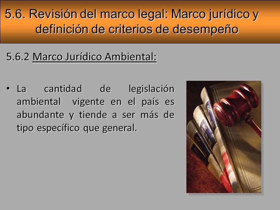 Guías ambientales Reglamentos específicos Reglamentos generales Leyes generales y de tutela ambiental Tratados (derecho internacional) Constitución política (artículos 21,50 y 89) 5.6.