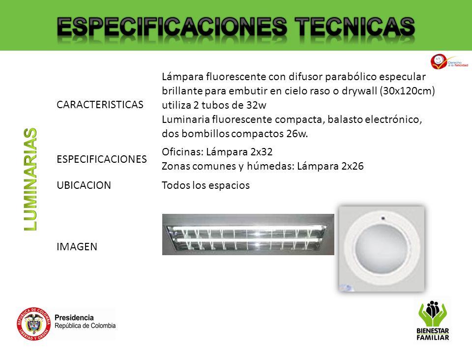 CARACTERISTICAS Lámpara fluorescente con difusor parabólico especular brillante para embutir en cielo raso o drywall (30x120cm) utiliza 2 tubos de 32w