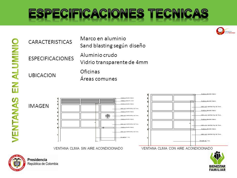 CARACTERISTICAS Para los acabados exteriores se deben seguir las indicaciones dadas en las cartillas de espacio público IDU ESPECIFICACIONES Mobiliario: Sillas y canecas según cartilla de espacio público IDU.