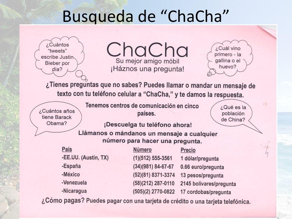 Busqueda de ChaCha