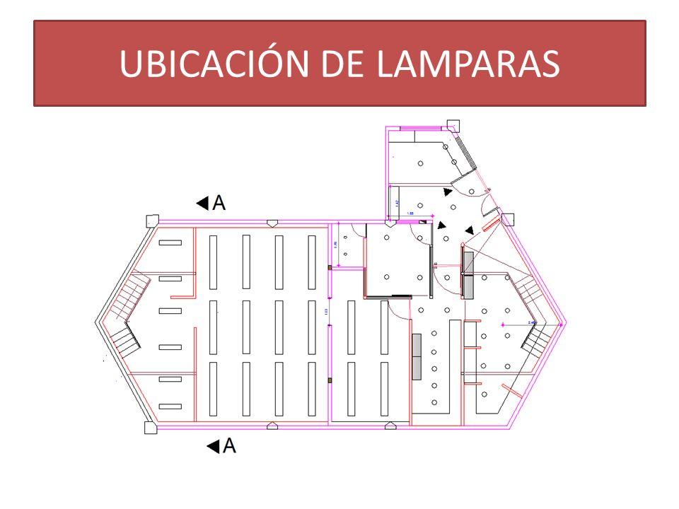 UBICACIÓN DE LAMPARAS