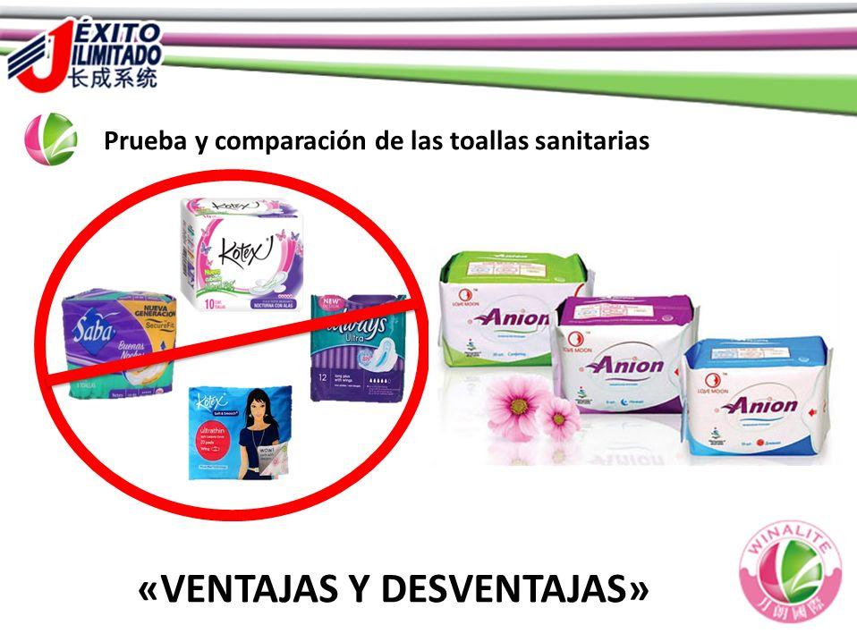 Prueba y comparación de las toallas sanitarias «VENTAJAS Y DESVENTAJAS»