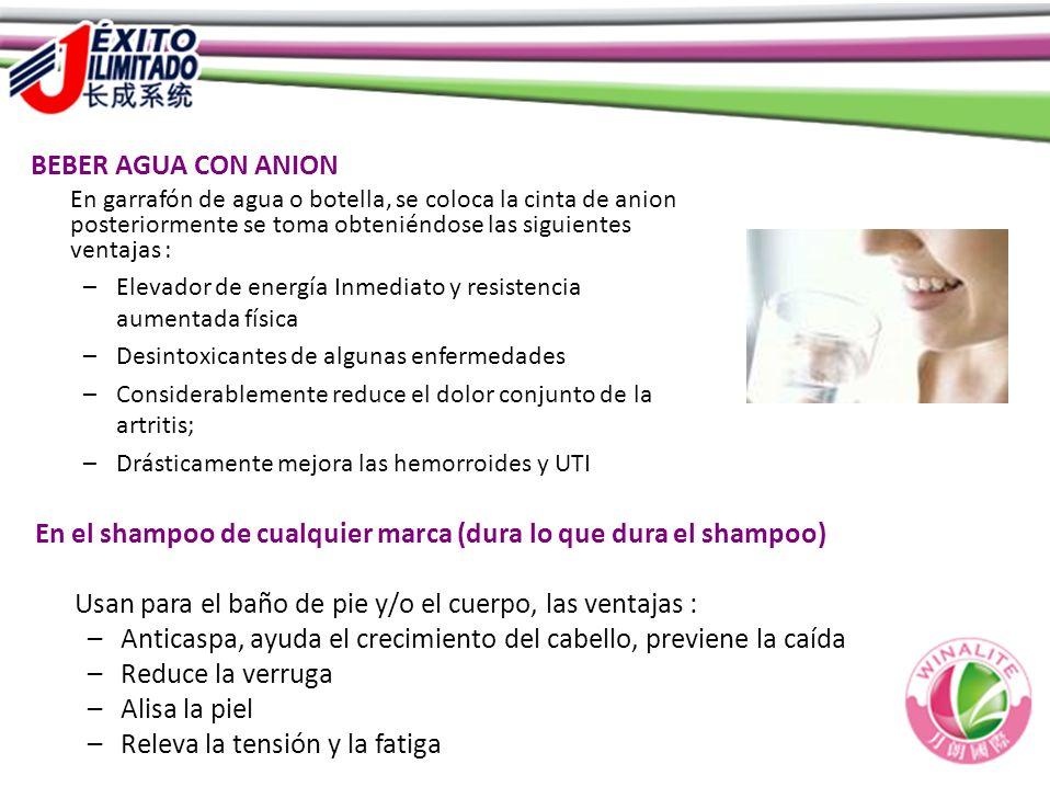 En el shampoo de cualquier marca (dura lo que dura el shampoo) Usan para el baño de pie y/o el cuerpo, las ventajas : –Anticaspa, ayuda el crecimiento