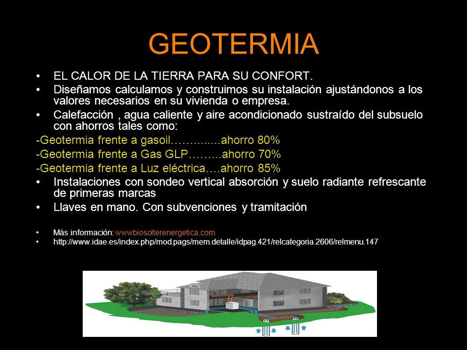 GEOTERMIA EL CALOR DE LA TIERRA PARA SU CONFORT.
