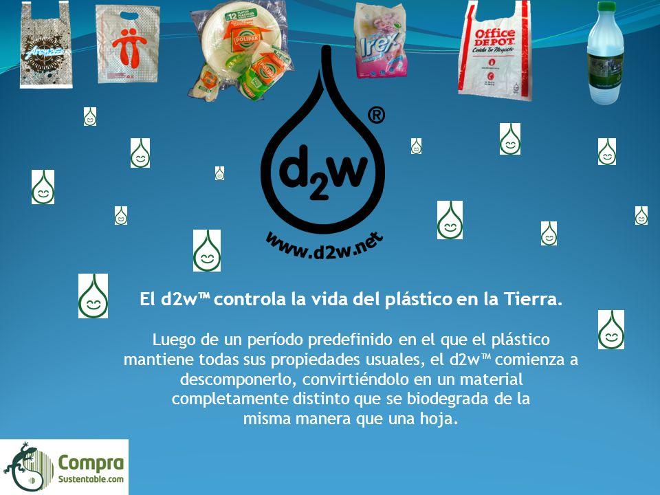 El d2w controla la vida del plástico en la Tierra.