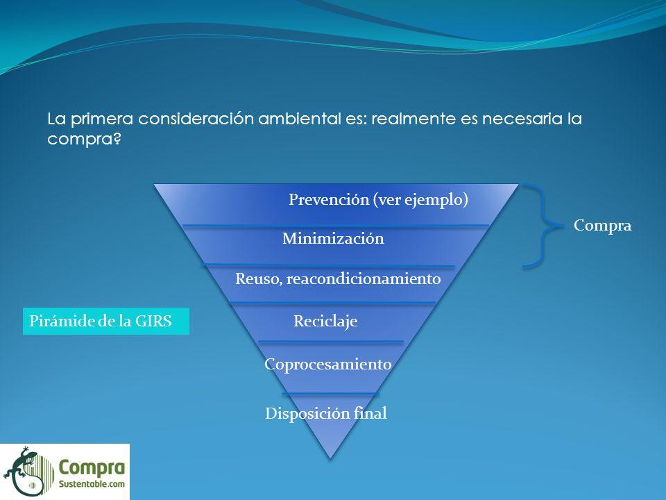 La primera consideración ambiental es: realmente es necesaria la compra.