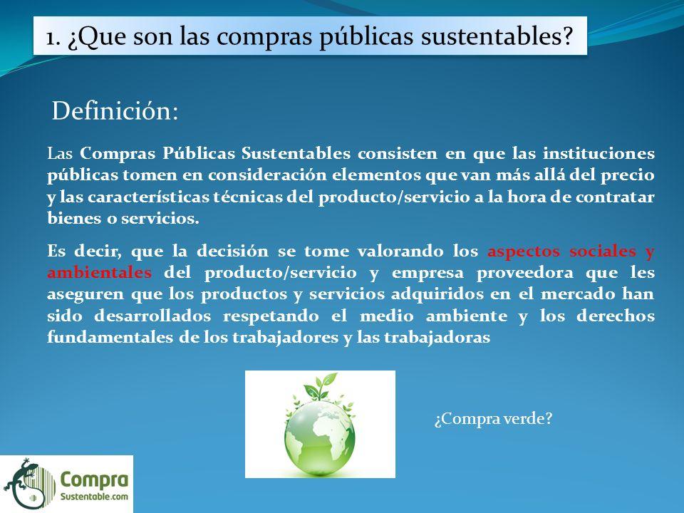 1.¿Que son las compras públicas sustentables.