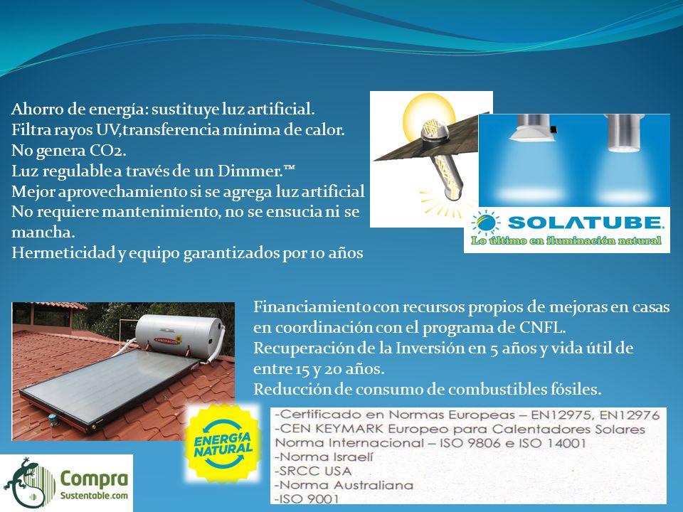 Ahorro de energía: sustituye luz artificial.Filtra rayos UV,transferencia mínima de calor.