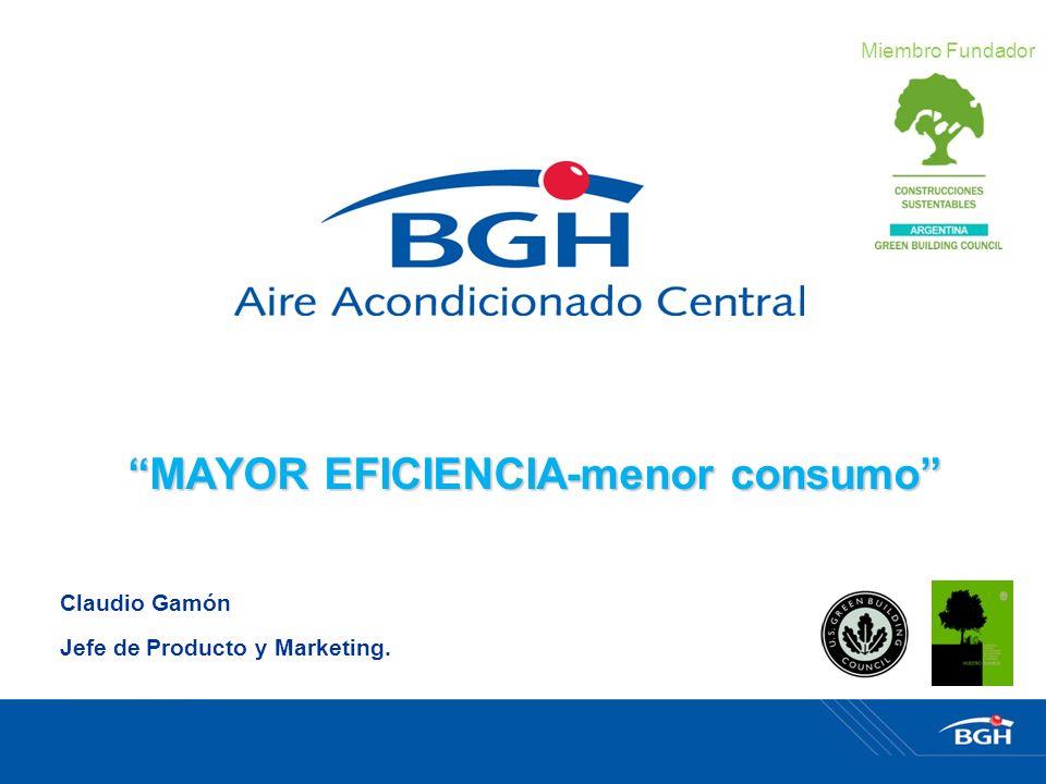 Claudio Gamón Jefe de Producto y Marketing. MAYOR EFICIENCIA-menor consumo Miembro Fundador