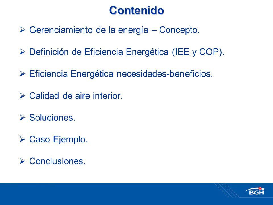 Contenido Gerenciamiento de la energía – Concepto.