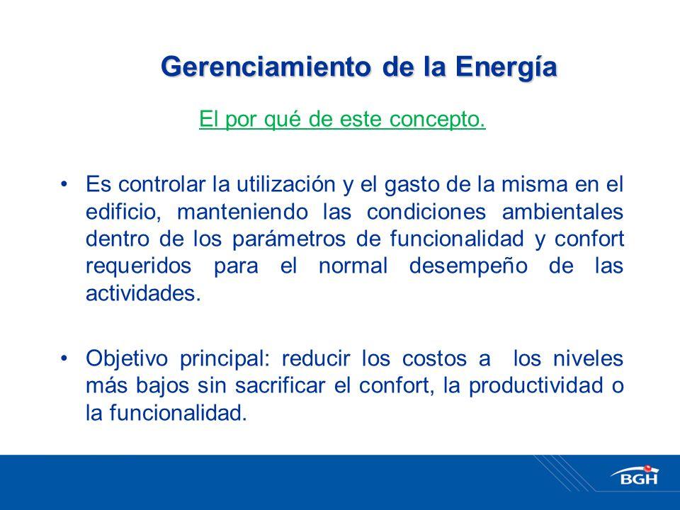 Gerenciamiento de la Energía El por qué de este concepto.