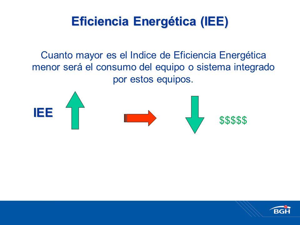 Cuanto mayor es el Indice de Eficiencia Energética menor será el consumo del equipo o sistema integrado por estos equipos.