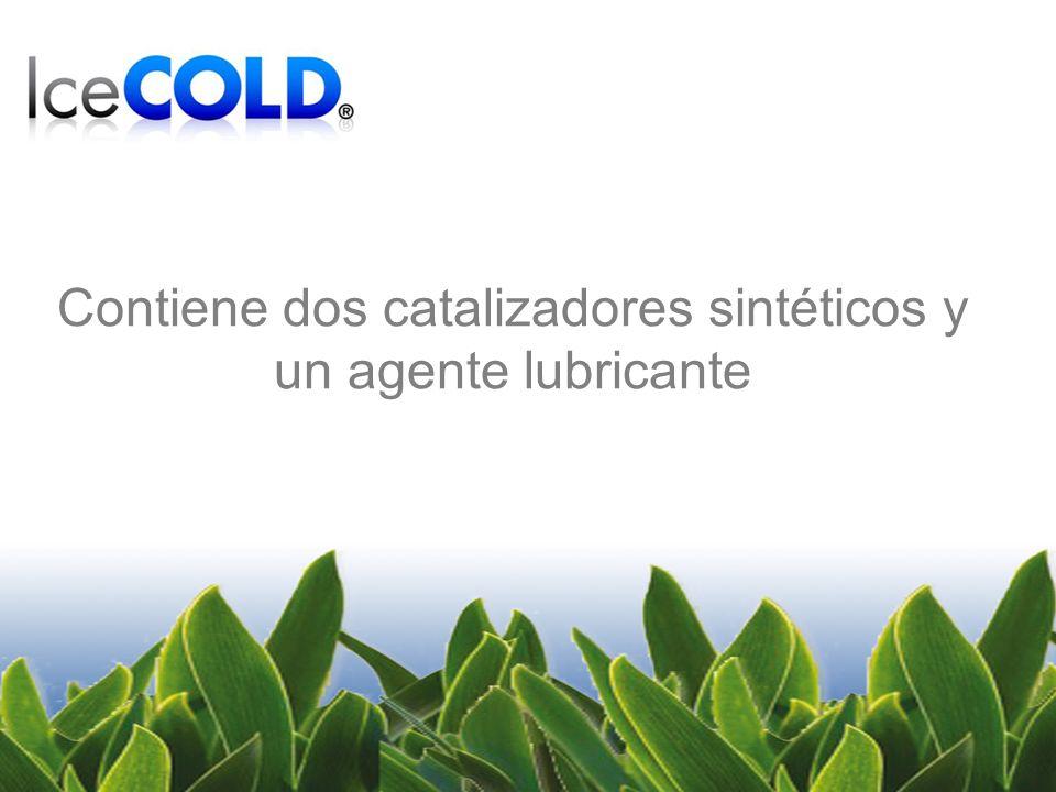 Contiene dos catalizadores sintéticos y un agente lubricante