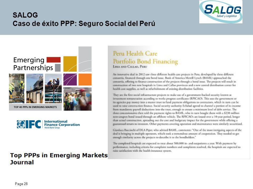 Page 28 SALOG Caso de éxito PPP: Seguro Social del Perú