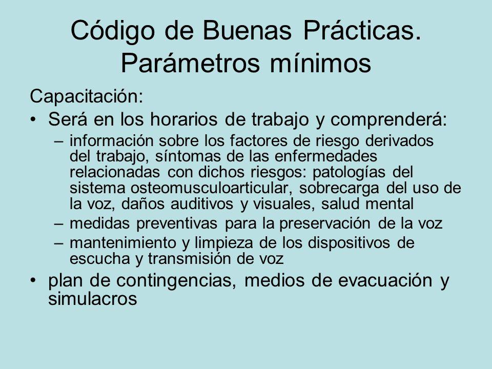 Código de Buenas Prácticas.