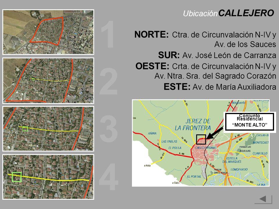 Ubicación CALLEJERO NORTE: Ctra.de Circunvalación N-IV y Av.