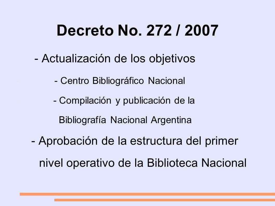 Departamento de Procesos Técnicos - Catalogadores de todos los soportes - Conformación de un grupo de trabajo - Políticas de organización del material - Documento base