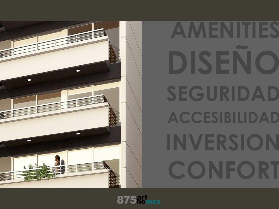 UBICACION AMENITIES DISEÑO SEGURIDAD ACCESIBILIDAD INVERSION CONFORT TRABAJO