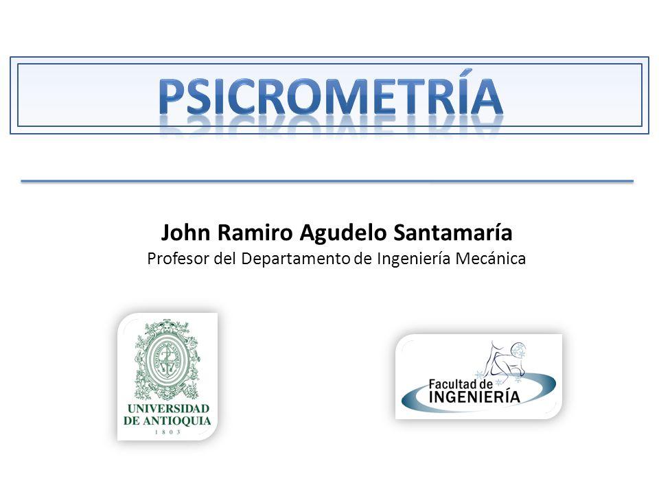 John Ramiro Agudelo Santamaría Profesor del Departamento de Ingeniería Mecánica