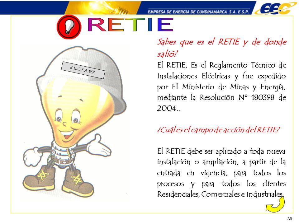 Sabes que es el RETIE y de donde salió? El RETIE, Es el Reglamento Técnico de Instalaciones Eléctricas y fue expedido por El Ministerio de Minas y Ene