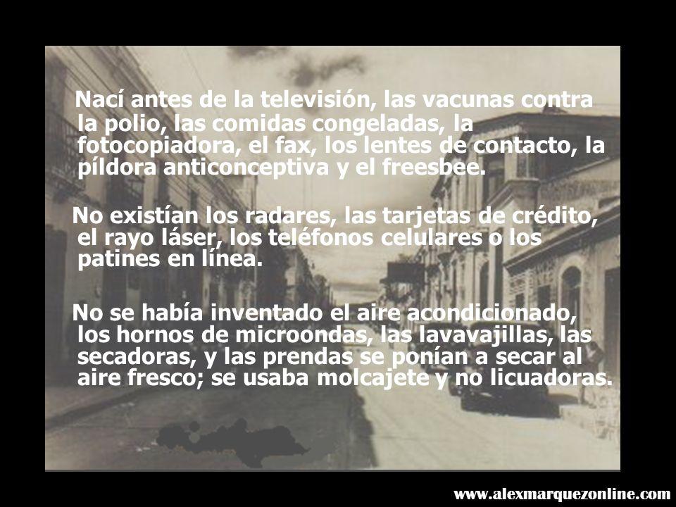 Nací antes de la televisión, las vacunas contra la polio, las comidas congeladas, la fotocopiadora, el fax, los lentes de contacto, la píldora anticonceptiva y el freesbee.