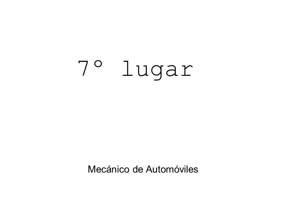 Mecánico de Automóviles 7º lugar