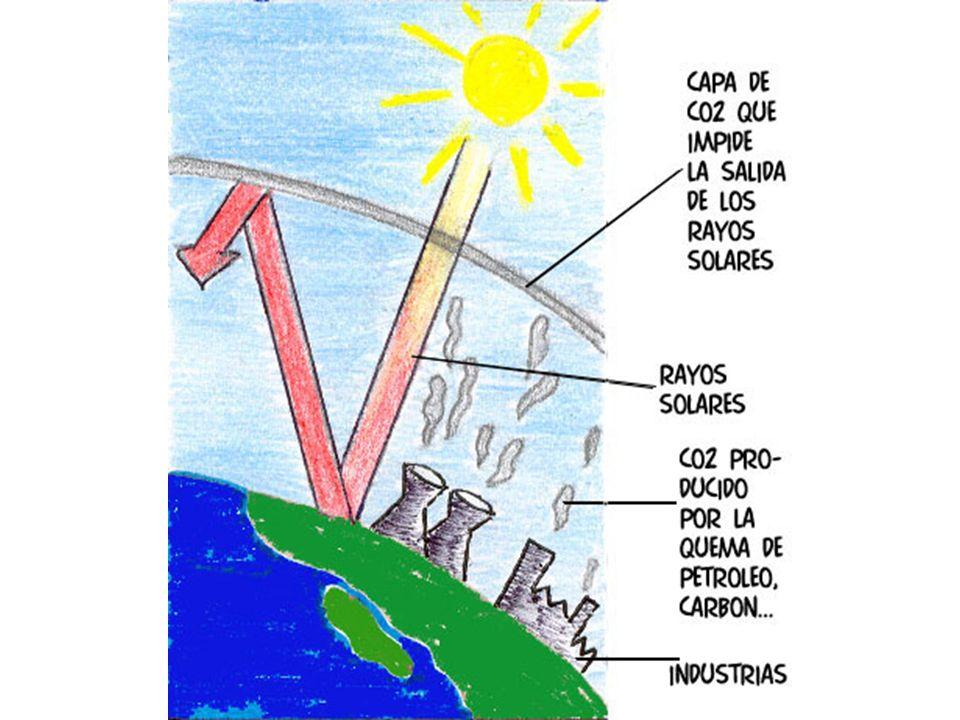 Los rayos de sol llegan a la tierra, rebotanen su superficie y cambían de intensidad para volver a subir. Pero algunos de estos rayos no logran atrave