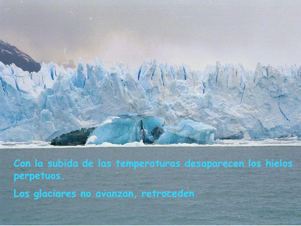 La emisión de gases de efecto invernadero favorece: El calentamiento del clima La subida del nivel del mar El avance de los desiertos