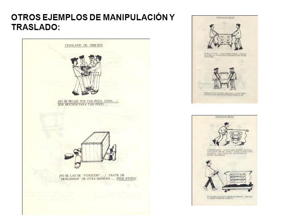 OTROS EJEMPLOS DE MANIPULACIÓN Y TRASLADO: