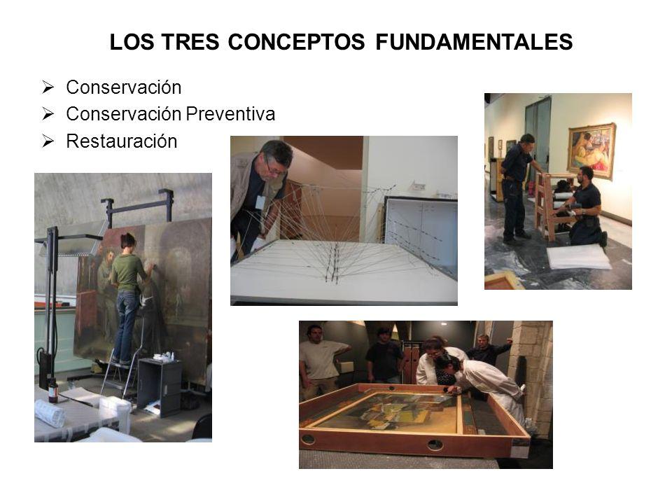 Conservación Conservación Preventiva Restauración LOS TRES CONCEPTOS FUNDAMENTALES