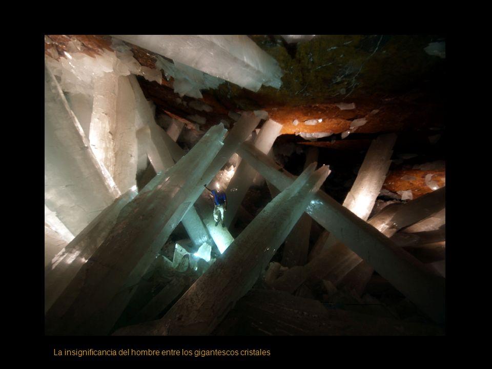 La insignificancia del hombre entre los gigantescos cristales