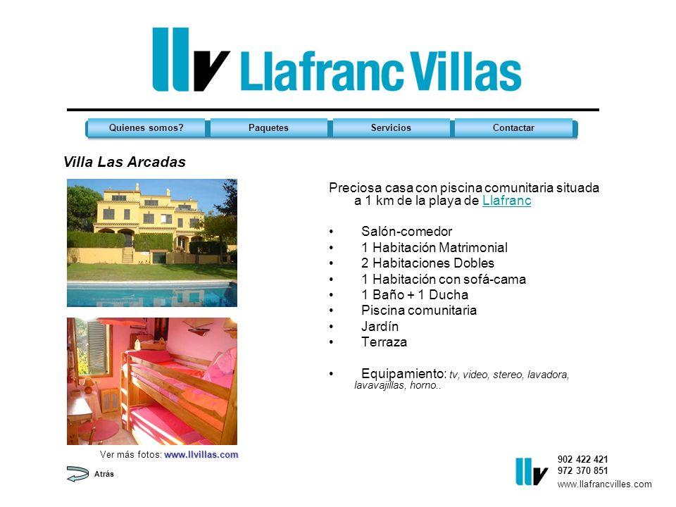 Apt. Port 53 Preciosa casa con piscina comunitaria situada a 1 km de la playa de LlafrancLlafranc Salón-comedor 1 Habitación Matrimonial 2 Habitacione