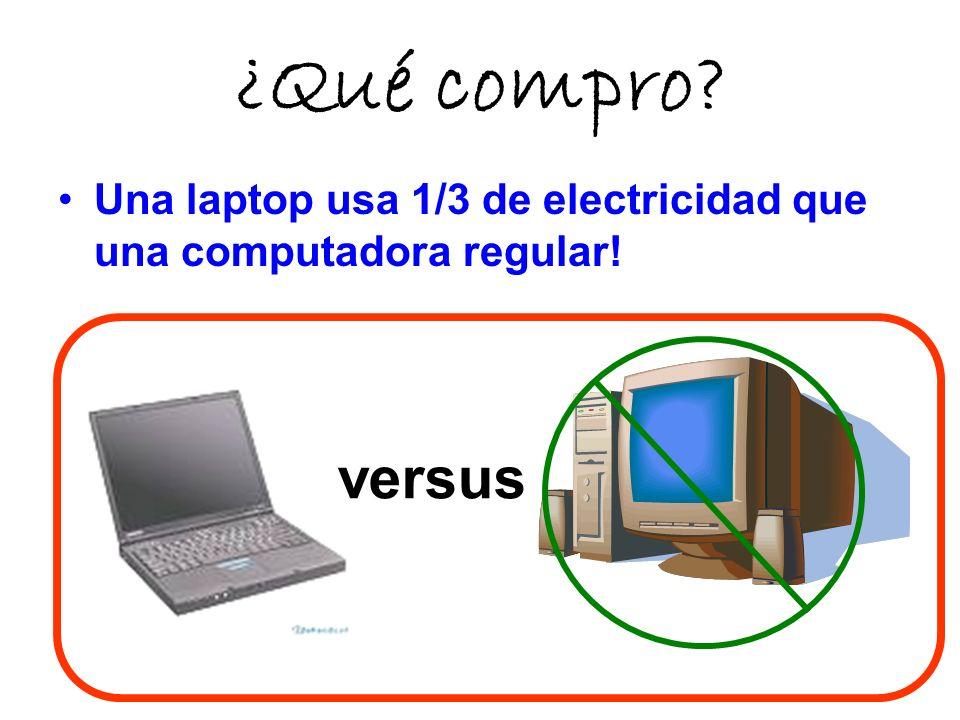 ¿Qué compro? Una laptop usa 1/3 de electricidad que una computadora regular! versus
