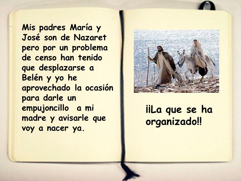 Primeras notas del diario del niño Jesús Texto: José Mª Calero Mi diario