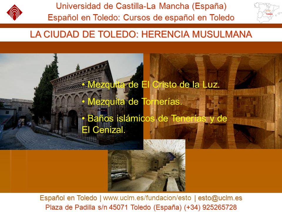 Universidad de Castilla-La Mancha (España) Español en Toledo: Cursos de español en Toledo Español en Toledo | | esto@uclm.es Español en Toledo | www.uclm.es/fundacion/esto | esto@uclm.es Plaza de Padilla s/n 45071 Toledo (España) (+34) 925265728 CURSOS DE ESPAÑOL : SERVICIOS OFRECIDOS Acceso a Internet inalámbrico en toda la Universidad.