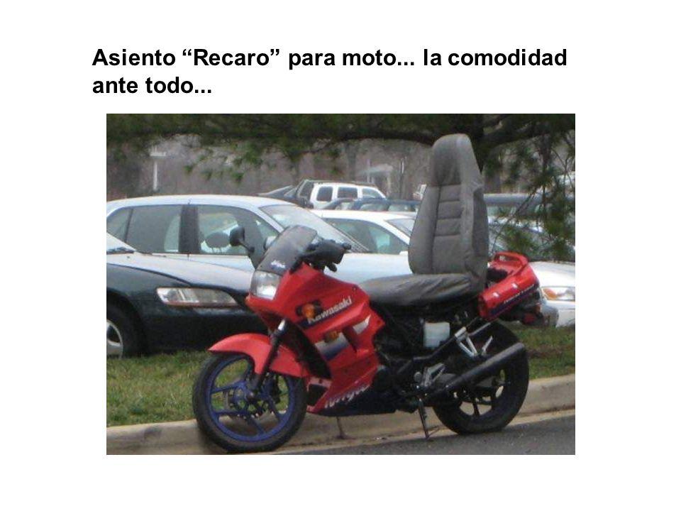 Asiento Recaro para moto... la comodidad ante todo...