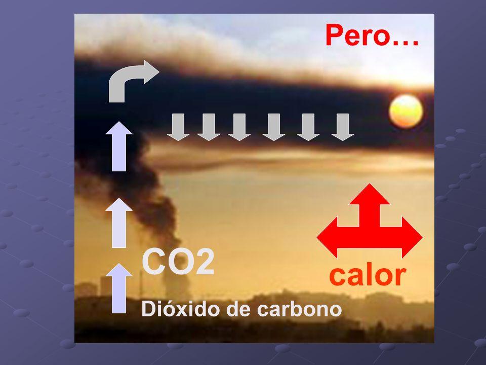 CO2 Dióxido de carbono calor Pero…