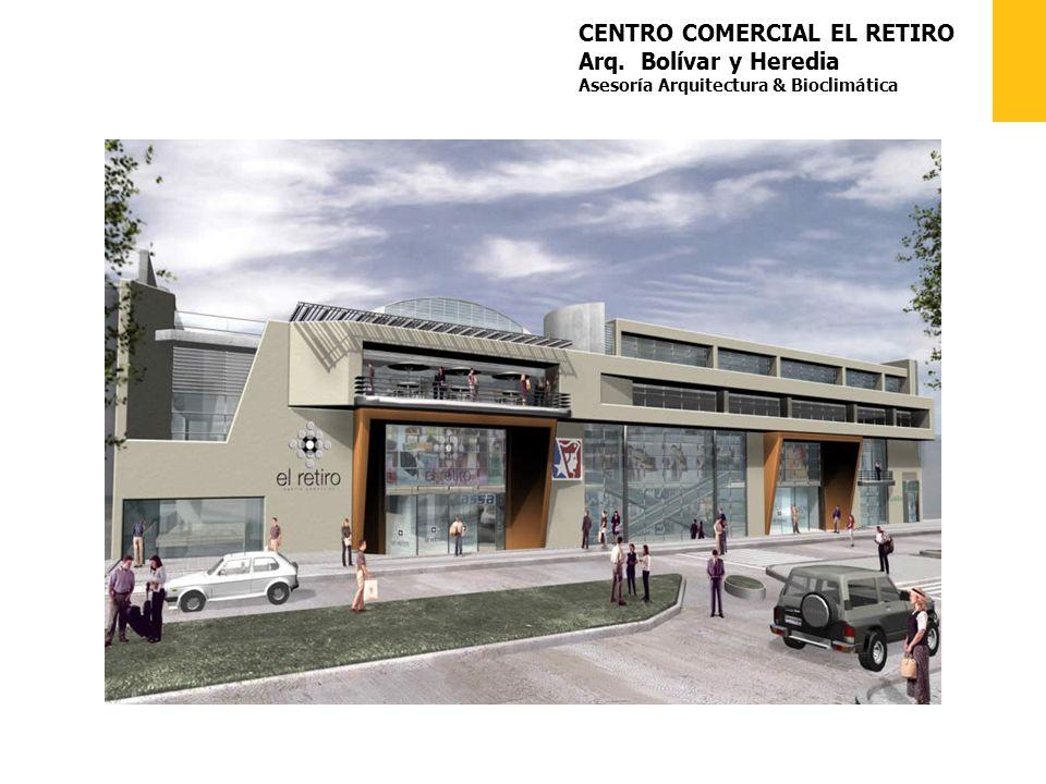 CENTRO COMERCIAL EL RETIRO Arq. Bolívar y Heredia Asesoría Arquitectura & Bioclimática