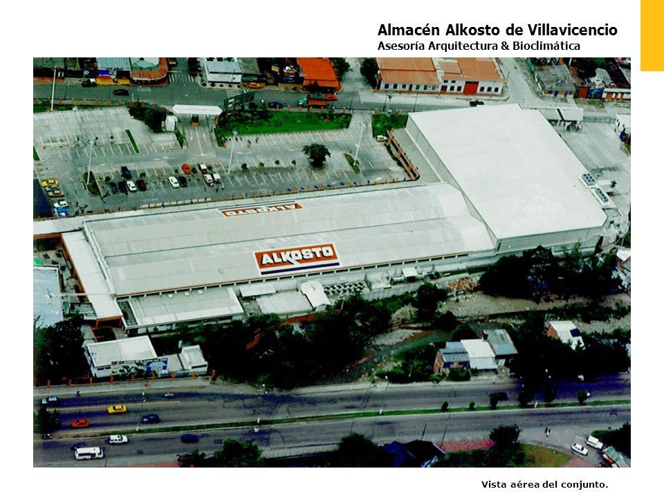Almacén Alkosto de Villavicencio Asesoría Arquitectura & Bioclimática Vista aérea del conjunto.